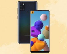 Samsung Galaxy A21s front and back