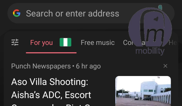 news feed on opera mini