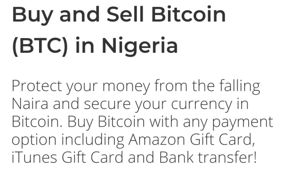buy and sell Bitcoin in Nigeria with paxful