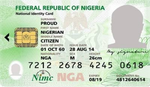 nin - national identification number