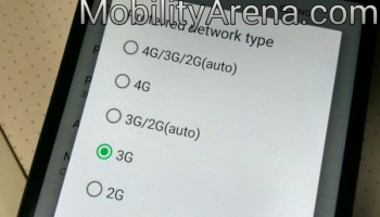 network mode selection menu
