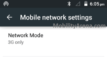 3G only network mode no signal