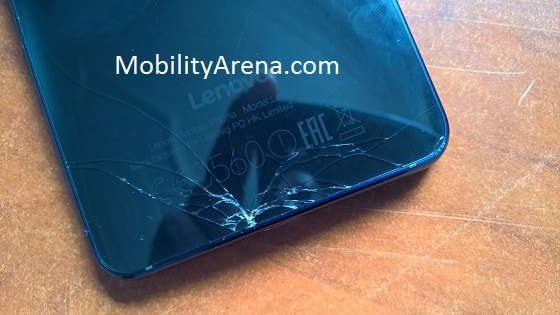 Lenovo Vibe S1 cracked glass back panel