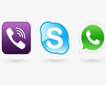 Skype WhatsApp calls