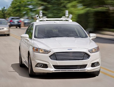 ford fusion self-driving car makers