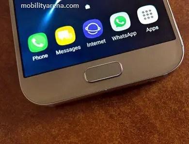 Samsung Galaxy A5 2017 Unboxing - fingerprint scanner