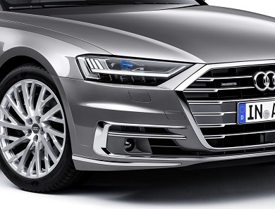 Audi A8 grey front grill
