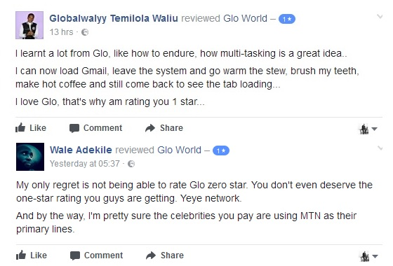 Glo Nigeria User review
