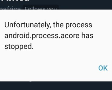 Process system is not responding Samsung Galaxy A5 2017 android.process.acore error