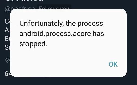 Samsung Galaxy A5 2017 error