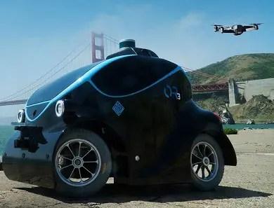 Self-driving robotic police cars