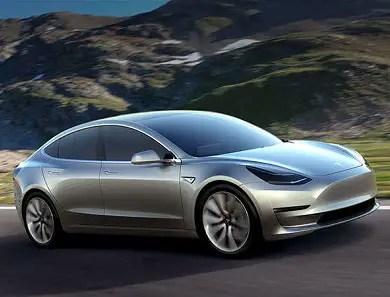 Tesla Model 3 front angle