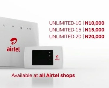 Airtel Unlimited data plans