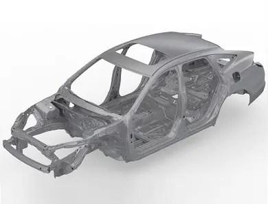 vehicle chassis unibody