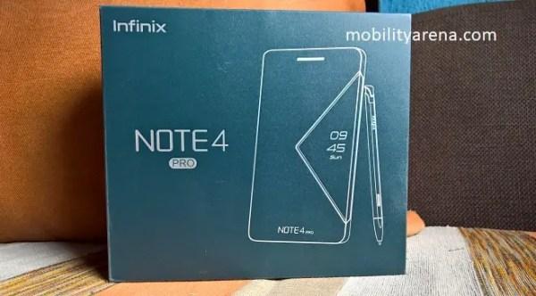 Infinix Note 4 Pro first impressions box