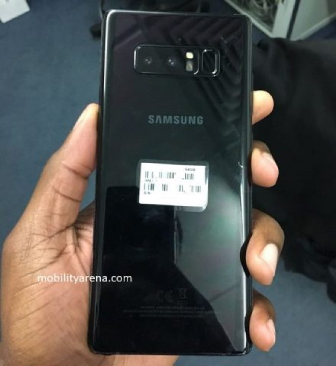 samsung galaxy note 8 hands-on back