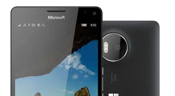 Lumia 950 XL stock photography