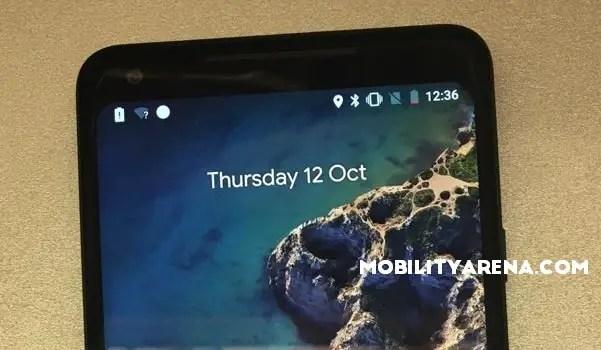 Google Pixel 2 XL top