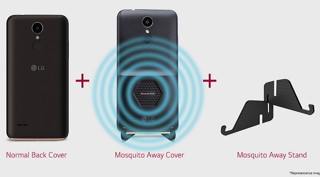 LG K7i LG 230i - Mosquito Away cover - Mosquito Away stand - Anti-malaria Smartphone