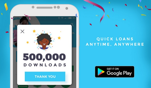 PayLater Android mobile app 500000 downloads