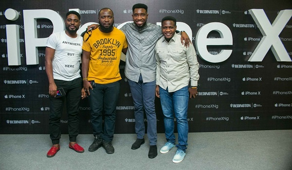 Timi Dakolo and guests at the iPhone X Lagos Launch