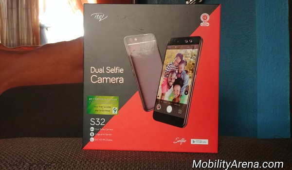 itel S32 unboxing photos box