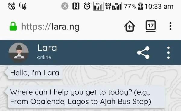 lara web app