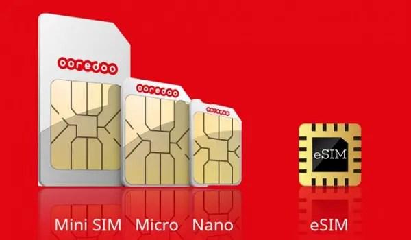 mini micro nano esim
