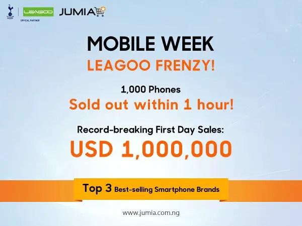 Jumia mobile week leagoo frenzy