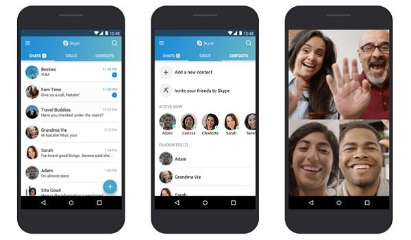 bloated Skype app updated