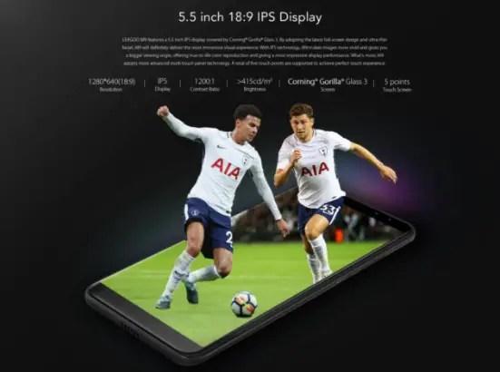 leagoo M9 5.5 inch display