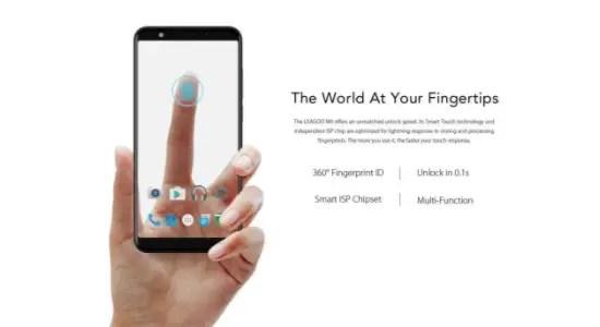 leagoo M9 fingerprint transparent