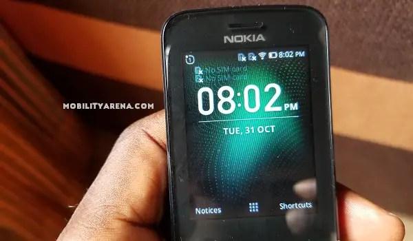 Nokia 8110 4G Review homescreen