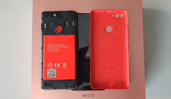 itel s13 review back cover open