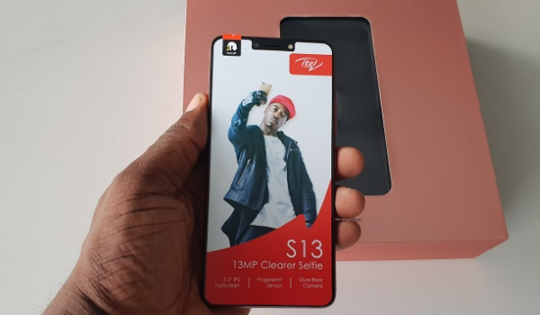 itel s13 review phone in hand