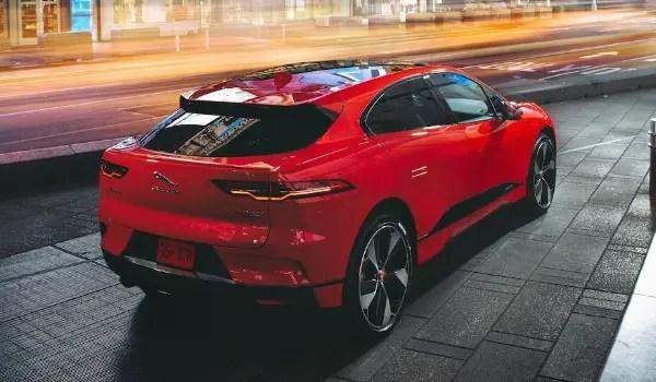 jaguar i-pace red rear
