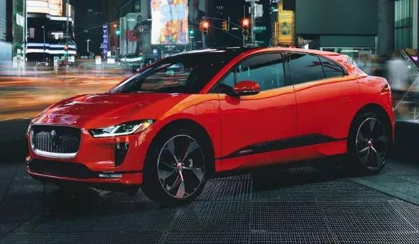 jaguar i-pace red side