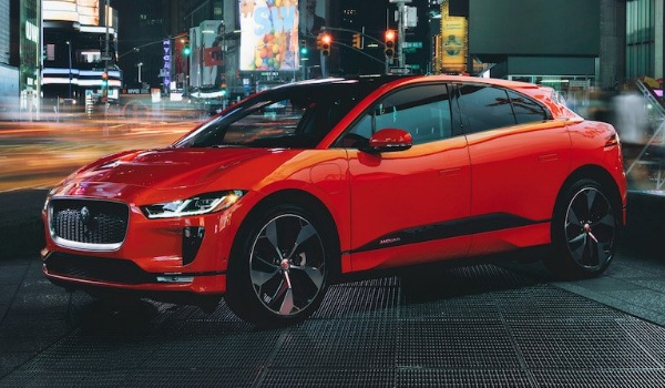 jaguar i-pace red side