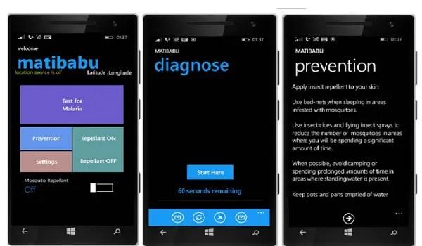 matibabu mobile app bloodless malaria test kit