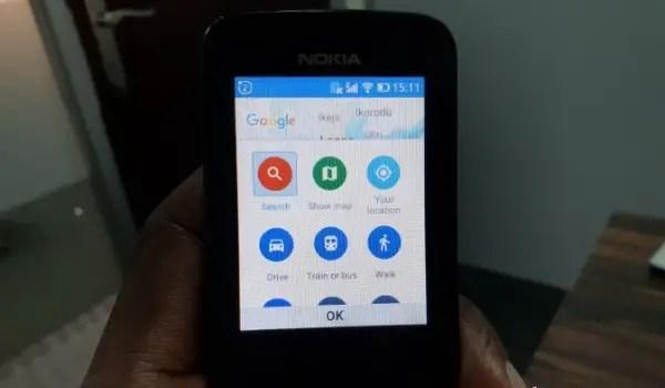 Google Maps on Nokia 8110 4G Kai OS Nigeria