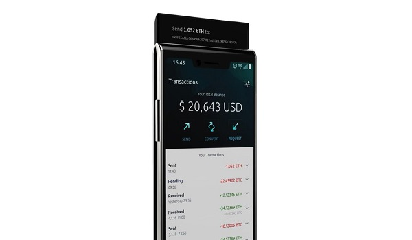 Finney phone slider up - Finney blockchain phone