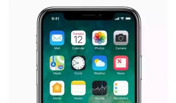 iPhone OLED screen
