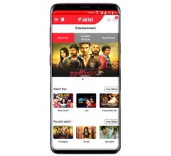 My Airtel app entertainment