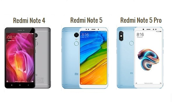 Redmi Note 4, Redmi Note 5, & Redmi Note 5 Pro