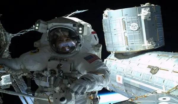 space selfie by astronaut Steve Swanson