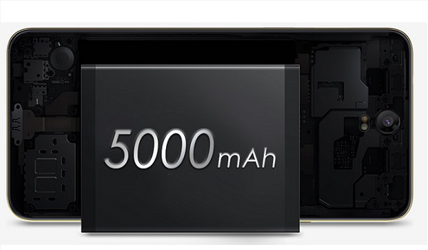 5000mAh battery phone