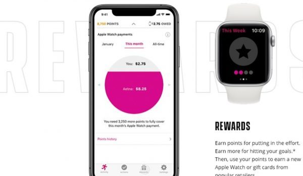 Aetna and apple health tracking steps