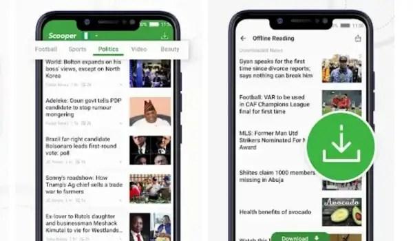 scooper app for trending news videos