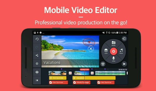 best free video editing applications - Kinemaster