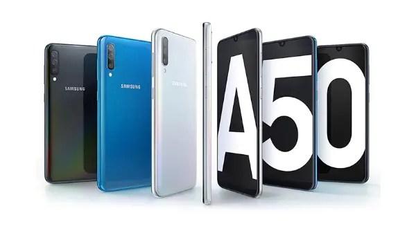 Samsung Galaxy A50 splash